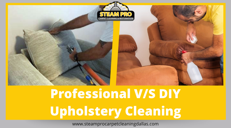 professional upholstery cleaning vs DIY Dallas